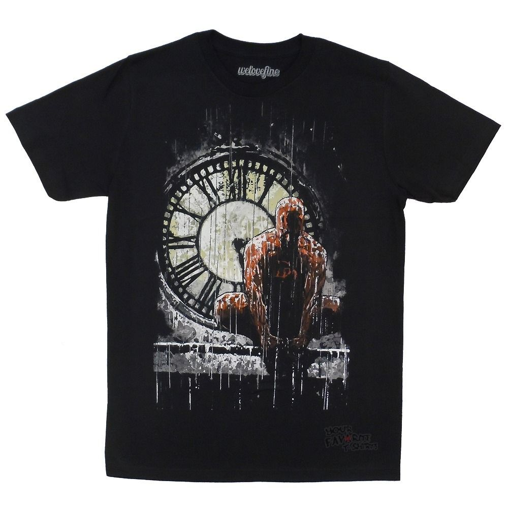 Daredevil Clocktower Marvel Comics Adult T Shirt Summer Man T-Shirt Tops Tees New Top Tees Custom Any Logo Size image