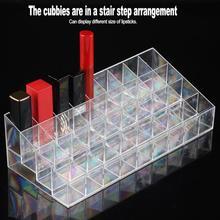 New 36 Grids Transparent Lipstick Cosmetic Tool Display Case Storage Box Nail Brush Container Organizer Jewelry Storage Display