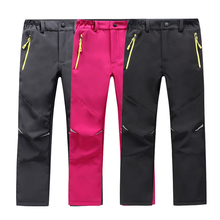 Trousers Thick-Pants Hiking Waterproof Soft-Shell Girl Warm Winter Children New Boy Breathable