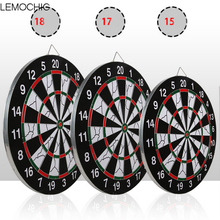 LEMOCHIC Darts Boards High-grade Double-sided Flocking Dartboard For Dart Game Darts Free shipping