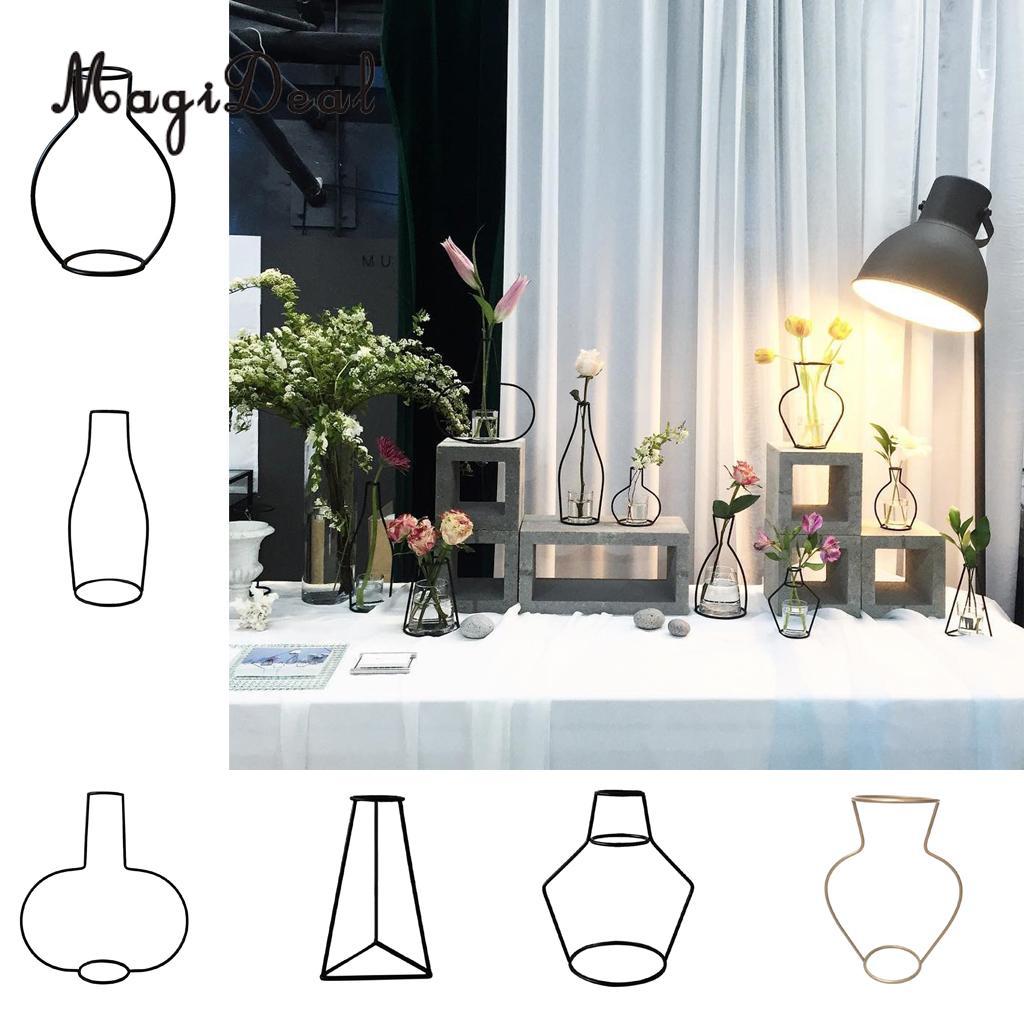 MagiDeal Металл Железо DIY ваза Рамки Цветы стоят завод держатель цветочный горшок Таблица декора дома
