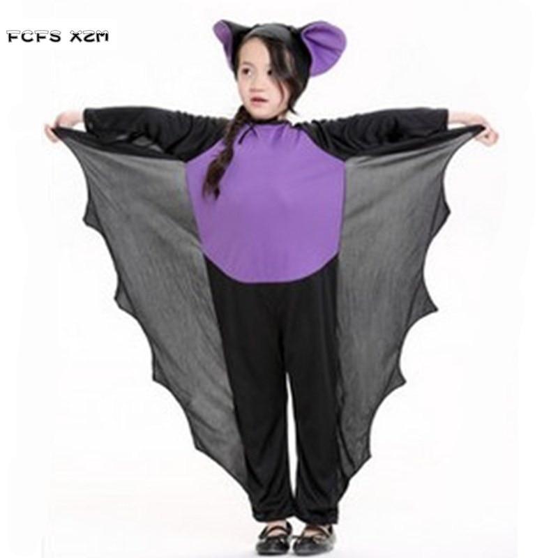 Унисекс Хэллоуин bat костюмы животных для детей вампира cosplays Kigurumi пижамы карнавал Пурим шоу на сцене праздничное платье