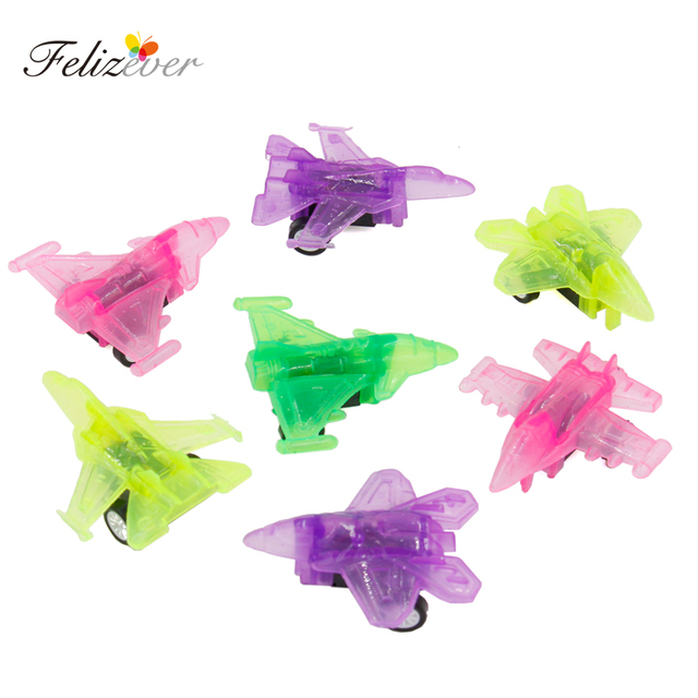 12Pcs Pull Back Mini Plane Toys Kids Birthday Party Favor Supplies For Boys Giveaways Pinata Fillers