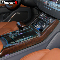 For Audi A8 Central Control Console Gear Shift Panel Interior Trim Protection Film Accessories Protector Decal Stickers