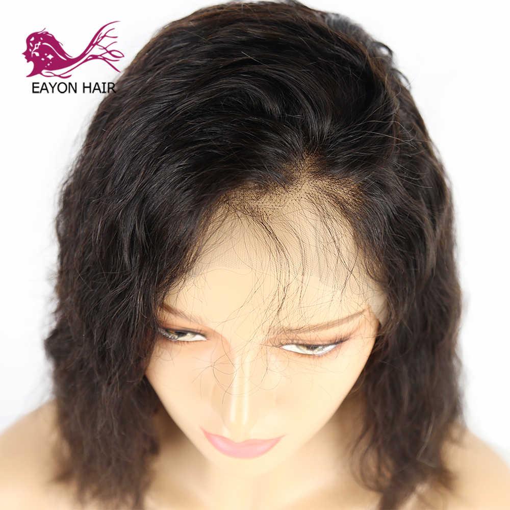 Eayon Haar Braziliaanse Full Lace Menselijk Haar Pruiken Voor Vrouwen Body Wave Korte Bob Pruiken 130% Dichtheid Voor Zwarte Vrouwen remy Haar