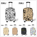FORUDESIGNS Unique Letter Printing Thick Luggage Protective Cover For 18-30'' Suitcase Waterproof Rain Cover Travel Accessories