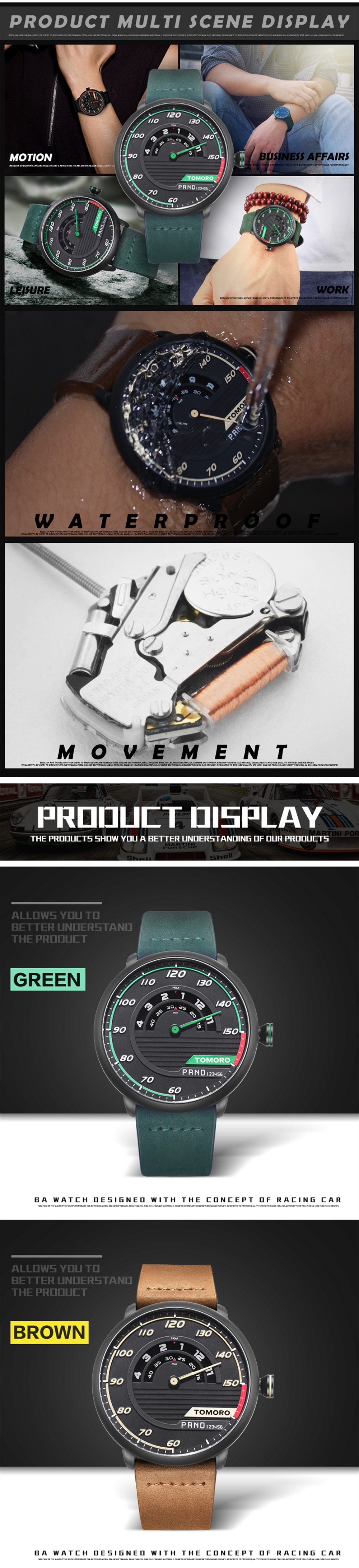 HTB1PkURQFXXXXcNaXXXq6xXFXXXg TOMORO Men's Unique Racing Car 3D Design Wrist Watch
