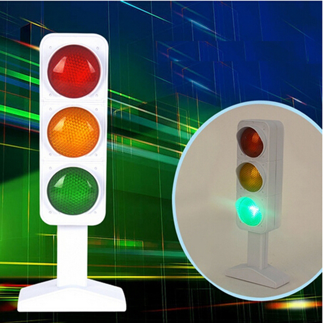 Child Traffic Light Signal Lamp Toy Mini Toy(Without Batteries)