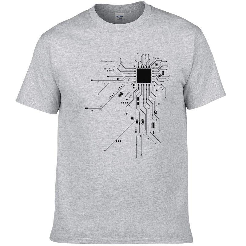 Computer CPU Core Heart T-Shirt Men's GEEK Nerd Freak Hacker PC Gamer Tee Summer Short Sleeve Cotton T Shirt Euro Size #303 3