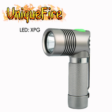 UniqueFire New Design V4-A Mini Led Flashlight XP-G Right Angle Lamp Torch 3 Modes Light For 14500 Or AA Battery