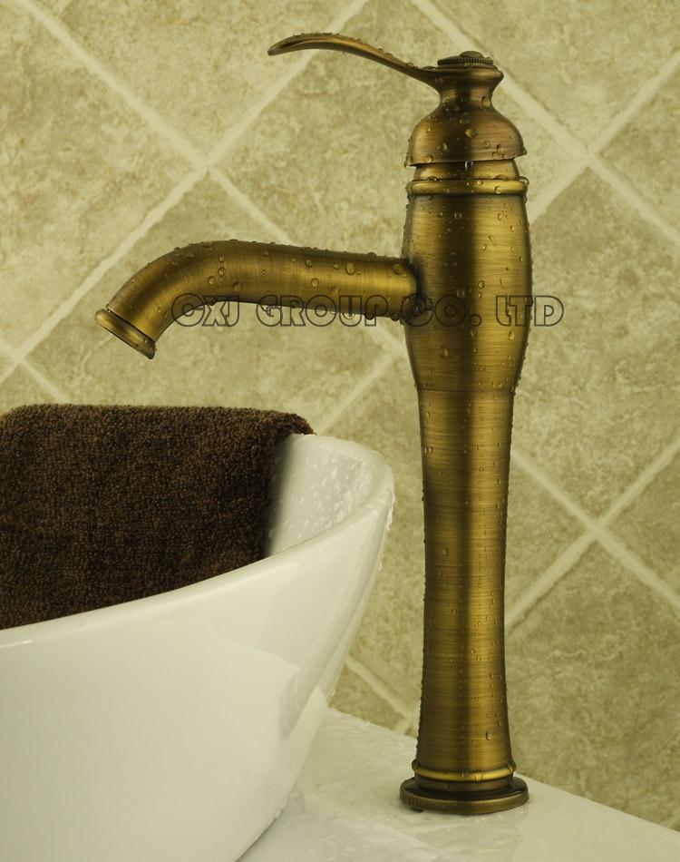 Free Shipping Antique Brass Basin Faucet Antique Faucet Single Hole Water Tap Bathroom Faucet torneiras para pia de banheiro подвесной светильник chiaro мидос 802010101