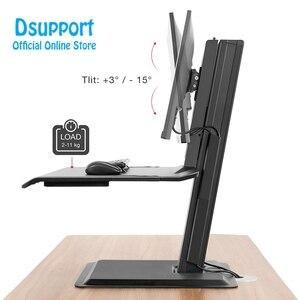 Image 4 - NB ST15 190 cm Công Thái Học Máy Tính Ngồi Đứng Máy Trạm 22 32 inch Gắn Chân Đế với Bàn Phím Đĩa Laptop chân Đế để bàn