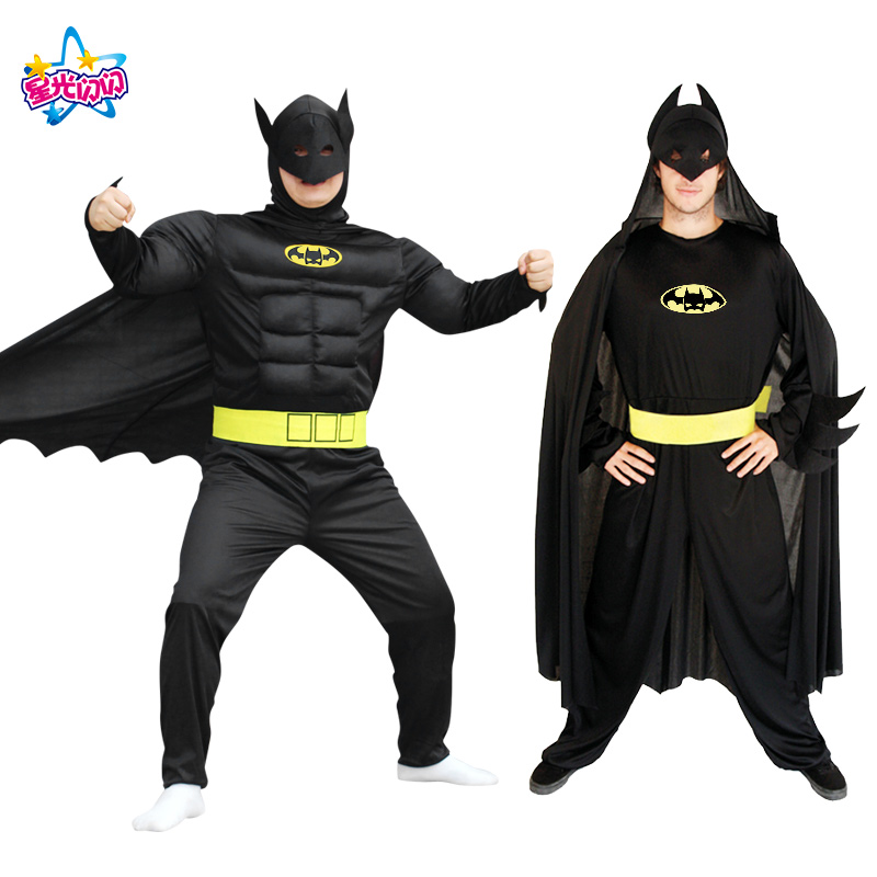 Penghantaran percuma Batman suit Batman Costumes Adults Children Kids Batman Cosplay clothing Women Batman dress Party Party
