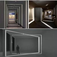 LED Wall Lamp Aisle Corridor Doors Windows Lighting Lines Light Frame Lights Designer Porch Sconce Lights Fixtures