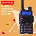Бесплатная доставка 8 Вт Dual Band УКВ + UHF 136-174 МГц & 400-470 МГц Двухстороннее Radio ТОНФЫ УФ-985 VOX DTMF Walkie Talkie
