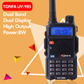 Envío gratis 8 W Doble Banda VHF + UHF 136-174 MHz y 400-470 MHz de Dos Vías Radio TONFA UV-985 VOX DTMF Walkie Talkie