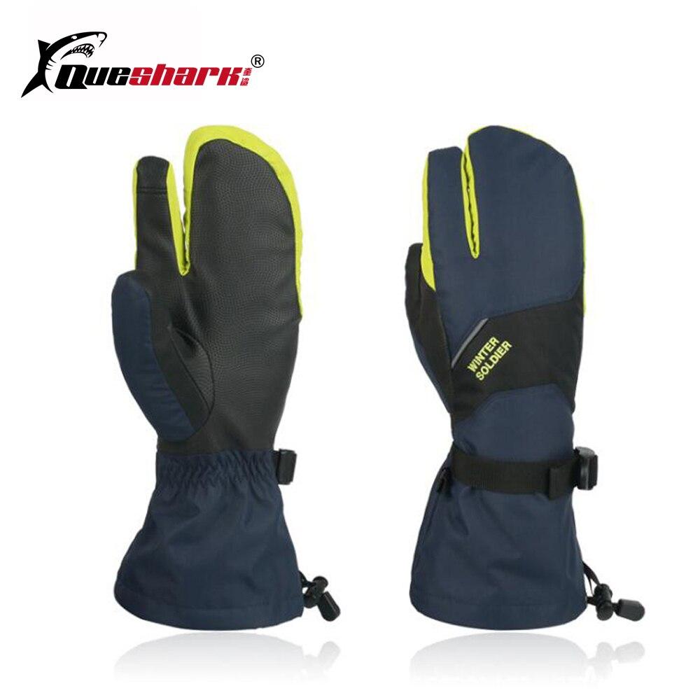 3 Fingers Touch Screen Ski Gloves Long Wrist Winter Warm Snowboard Men Women Children Motorcycle Cycling Waterproof Ski Gloves