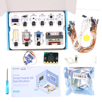Para micro: bit kit de casa inteligente com placa de microbit  (sensor de temperatura tmp36  sensor de som/acidente  servo  motor.  ect)  mb0017|GPS para drone| |  -