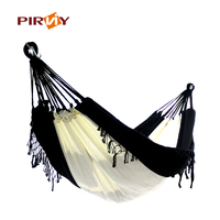 Adult Outdoor Swing Chair Pure Cotton Cloth Hammock With Tassel Pure Manual Increase Double Hammock Swing Bed