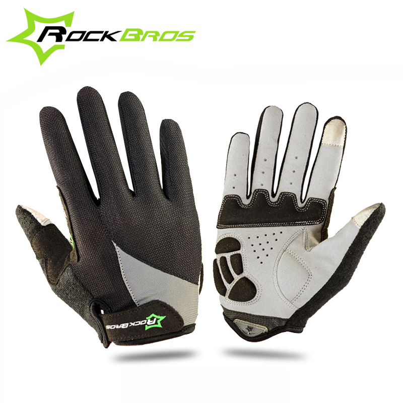 ROCKBROS Bicycle Bicicleta Cycling Touch Screen <font><b>Gloves</b></font> Breathable Non-Slip Bike Cycle Full Finger Ciclismo Luvas For Smartphone