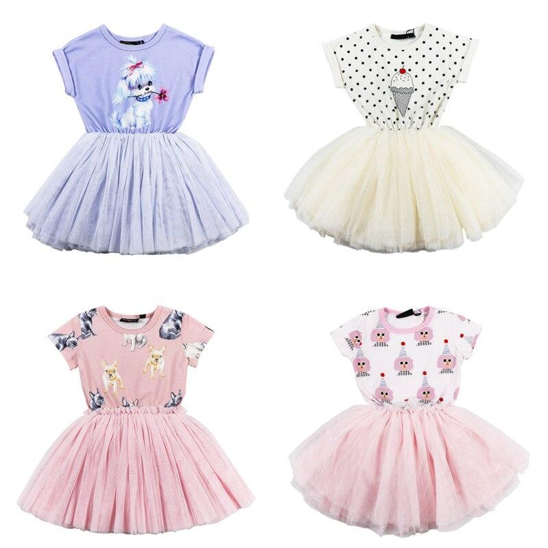 Robes de fête pour filles robes de princesse pour filles élégantes robes de dentelle de fête licorne costume de filles