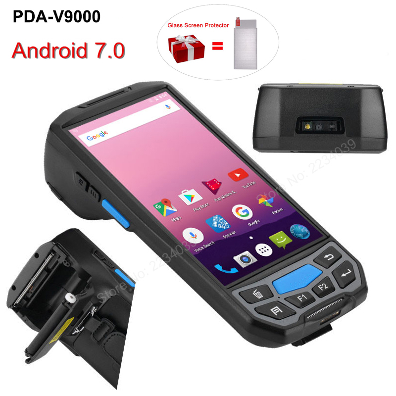 4G Android7.0 rugged nfc rfid reader 2d barcode scanner all in one handheld smartphone rugged android pda Pos terminal4G Android7.0 rugged nfc rfid reader 2d barcode scanner all in one handheld smartphone rugged android pda Pos terminal