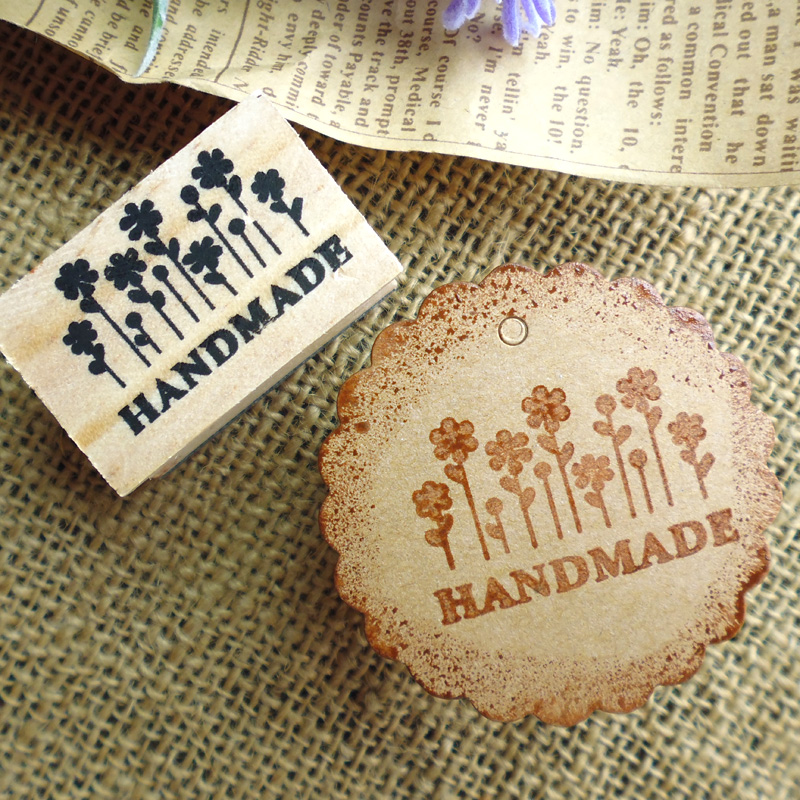 Free Shipping Natural Handmade Soap Wood Stamp Mold Chapter Mini DIY Wooden Hand Made Flower Pattern Stamps