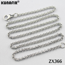 "200pcs 14"" 38"" stainless steel necklace 2.5mm round rolo link chains women fashion jewelry parts  ZX366"