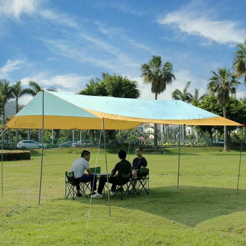 Ev ve Bahçe'ten Kamelyalar'de  Kamp plaj gölgelik güneş barınak eğlence çadırı Gazebo kamuflaj su geçirmez bahçe beyaz dış ortam tente tente gölge Pop up büyük büyük