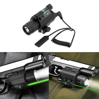 Hunting Tactical powerful LED Flashlight Light torch+Green dot Laser Sight For Pistol rifle Gun with 20mm rail Weaver Picatinny