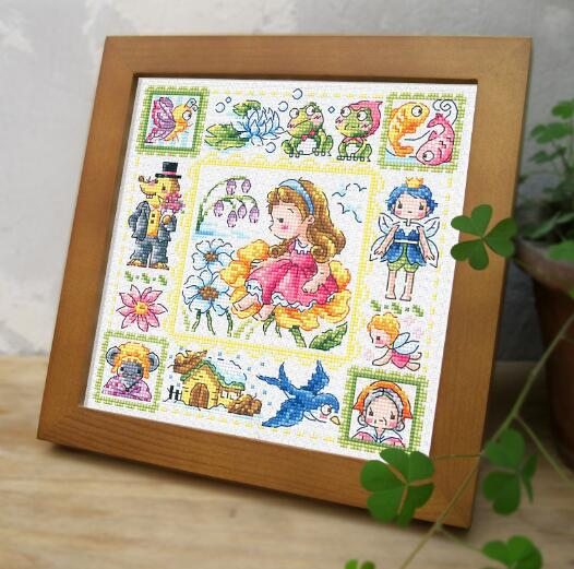 Gold Collection Lovely Counted Cross Stitch Kit Thumbelina Little Tiny Mini Girl Baby Fairy Tale Fairytale Fairyland SO