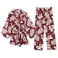 Yomrzl A341 новое прибытие весна осень ежедневно женская цветочный пижамы набор 3 шт. длинным рукавом пижамы сладкий сон набор