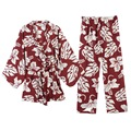 yomrzl A341 new arrival spring autumn daily women's floral pajama set 3 piece long sleeve sleepwear sweet sleep set