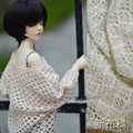 1/3 BJD Doll clothes a010 cutout batwing sleeve - beige soom