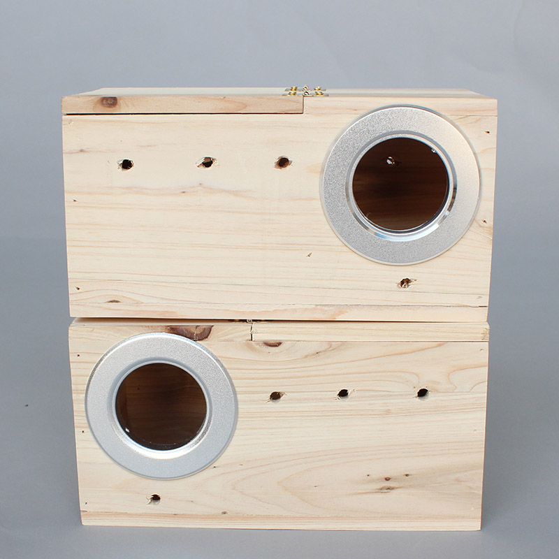 Wood Cage Houses Breeding Box Nest Baby For Pigeon Bird Parrot Lovebirds Supplies Animal Products Accessories W13-3