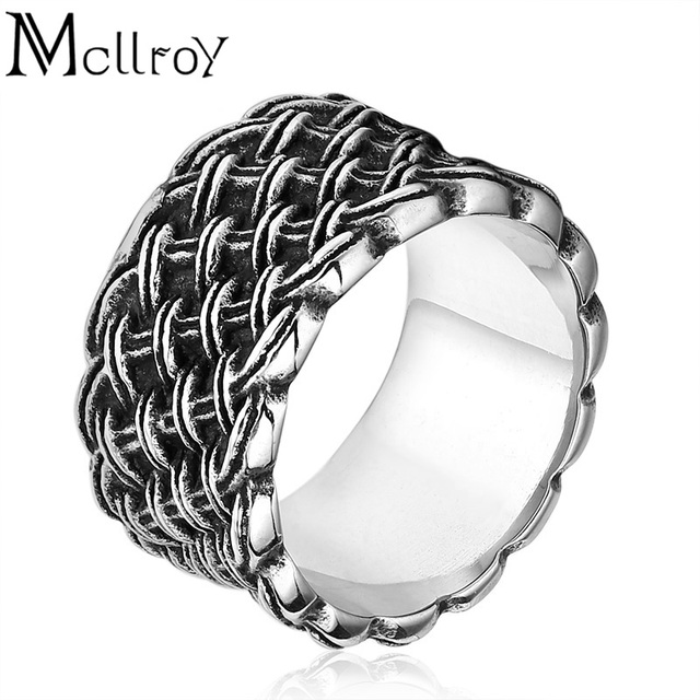 sterling braided silver mens rings pattern band ring