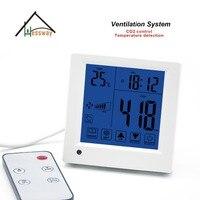 Пульт дистанционного управления в помещении качества воздуха co2 Монитор/детектор/контроллер вентилятора скоростей выхода