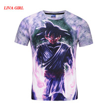 Dragon Ball Z T-shirts Mens Summer Fashion 3D Printing Super Saiyan Son Goku Black Zamasu Vegeta Dragonball T Shirt Tops Tee