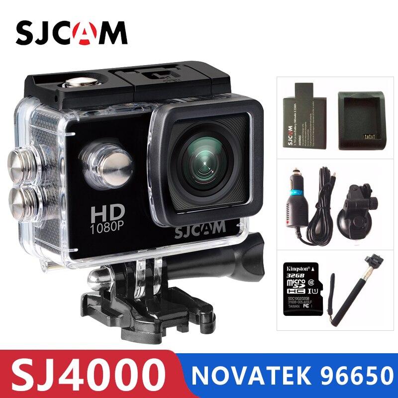 Original sjcam sj4000 câmera de ação esportes dv 2.0 polegada mergulho 30 m à prova dsj água capacete extremo mini camcorder sj 4000 cam hd 1080 p