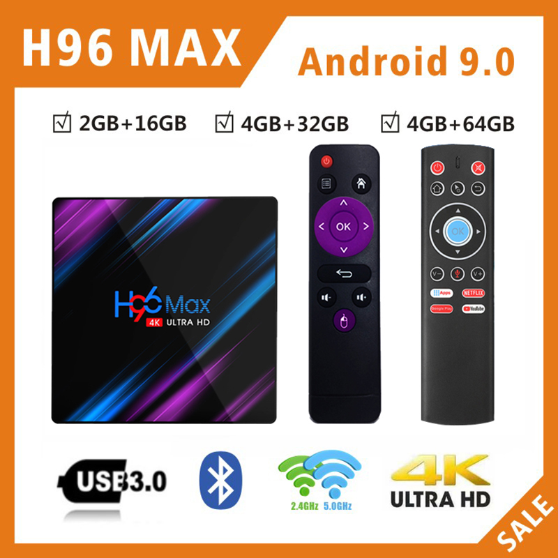 NEW koqit H96 MAX Android 9.0 TV BOX RK3318 2G&4G DDR3 16G/32G/64G ROM 2.4g/5g wifi Decoder 4K H.265 voice control Media Player-in Set-top Boxes from Consumer Electronics