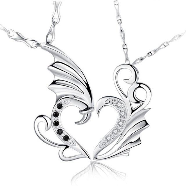 Exquisite silver gold angel wings pendant fashion sweet crystal exquisite silver gold angel wings pendant fashion sweet crystal lover swan pendant for diy necklace high aloadofball Choice Image
