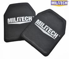 Dos Piezas de 2.6 kg de Peso Ligero De Aluminio y PE NIJ IV Bulletproof Panel/Al2o3 NIJ 4 Stand Alone Balístico Panel/NIJ nivel 4 placas