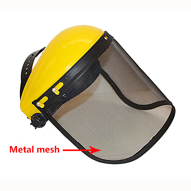 Metal Mesh Full Face Mask Protective Visor Safety Helmet hat For chainsaw brush cutter forestry Lawn Mower Protection Labor Mask chainsaw safety helmet hat logging brushcutter forestry visor protection