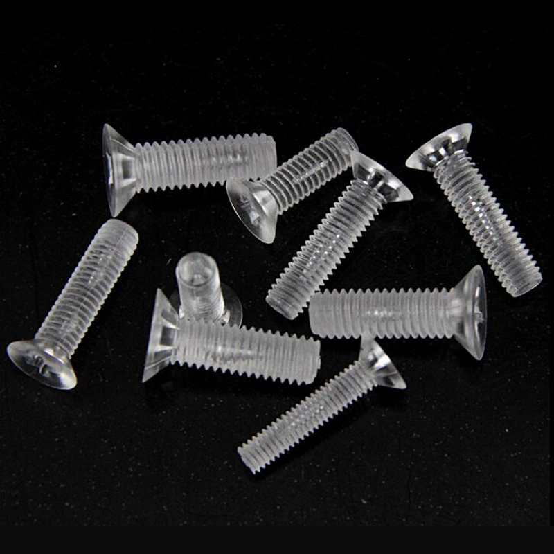 100pcs M5 x 20mm Nylon Screws countersunk Head Flat Head Screws White
