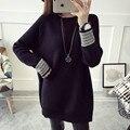 НОВЫЙ горячий продажа женская осень зима весна долго стиль случайные вязать свитера женщины колледж ветер сладкий свободные пуловеры свитер