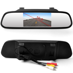Image 2 - AMPrime 4.3 inch Car HD Rearview Mirror Monitor CCD Video Auto Parking Assistance LED Night Vision Reversing Rear View Camera