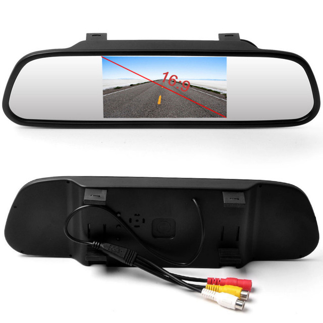 Podofo 4.3 inch Car HD Rearview Mirror Monitor CCD Video Auto Parking Assistance LED Night Vision Reversing Rear View Camera
