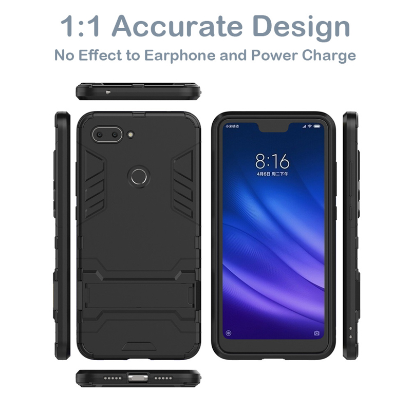 AKABEILA Armor Case For OnePlus 5 6 Case Cover For OnePlus 5T 6T Cover OnePlus 3 X Hard PC TPU Bumper Case With Stand Holder in Fitted Cases from Cellphones Telecommunications
