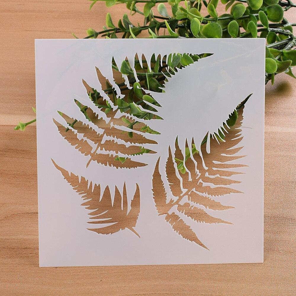 "Купить с кэшбэком 13cm 5.1"" Leaf Leaves DIY Layering Stencils Wall Painting Scrapbook Coloring Embossing Album Decorative Paper Card Template"