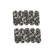 10Pcs/Set 6cm Leopard Double Side Professional Manicure Art Tools Kit Fingernail Toenail Nail Buffer Block Emery Board Nail File